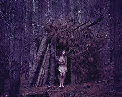 Scary Lady in the woods