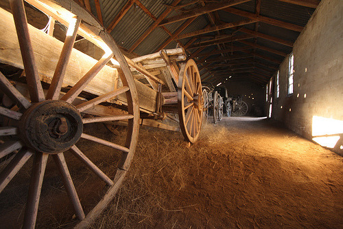 A photo showing the stable at the Monte Cristo Homestead