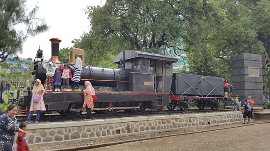 A photo showing one of the trains at Lawang Sewu