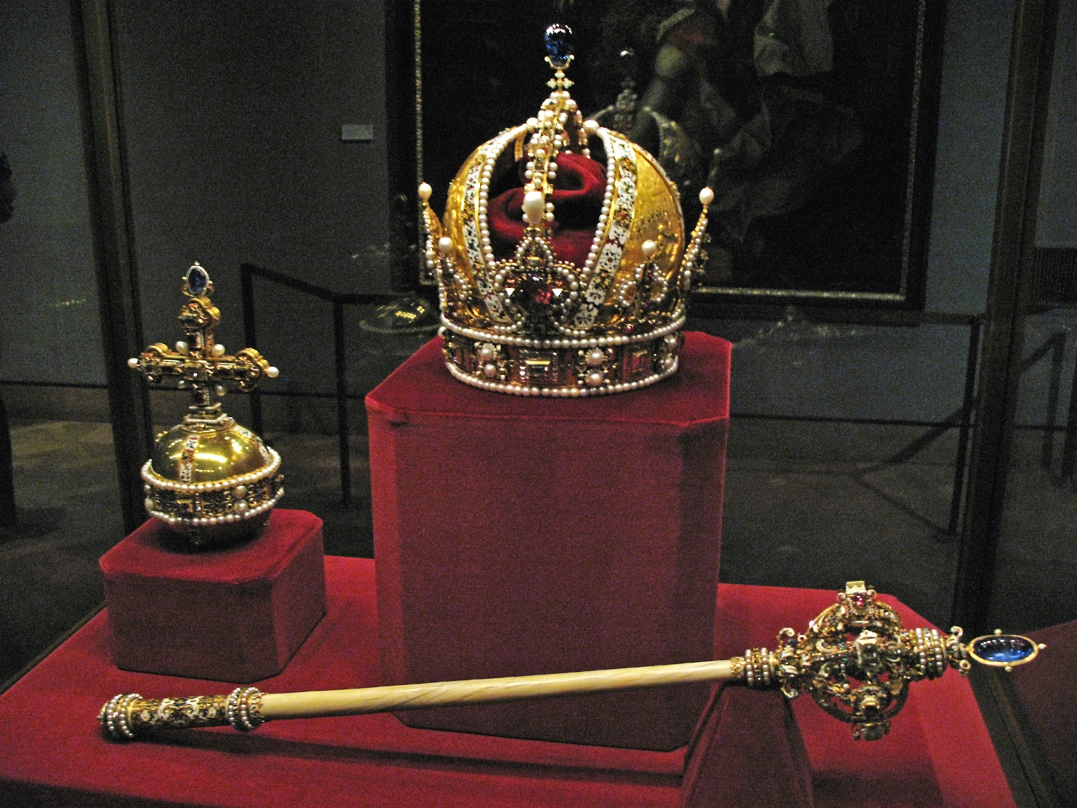 One of the Crown Jewels inside the Tower of London
