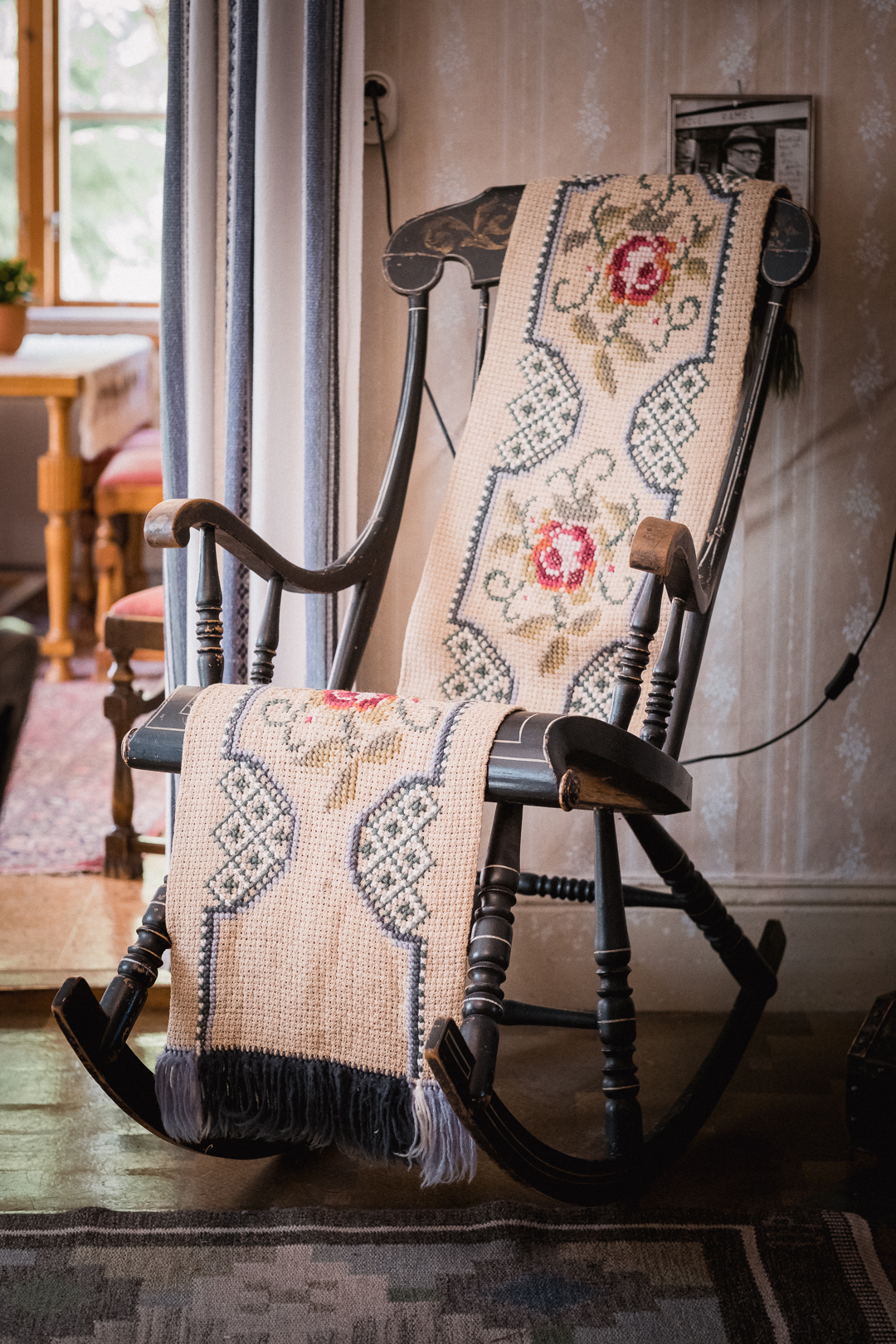 The rocking chair at the Borgvattnet