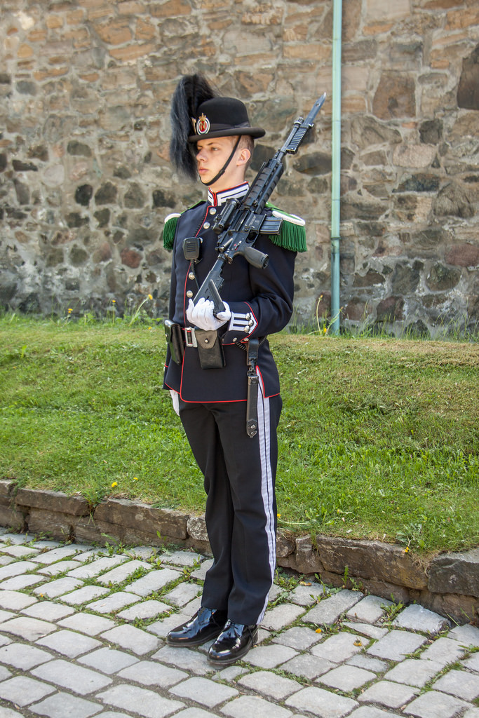A guard at the Akershus Fortress today