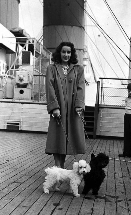 Elizabeth Taylor at the Queen Mary