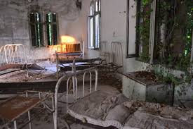 Some of the hospital beds at the Poveglia Island