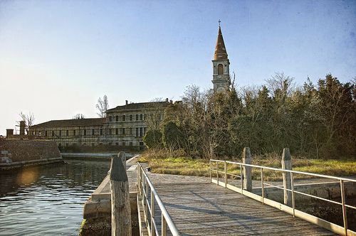 The buildings at the Poveglia Island