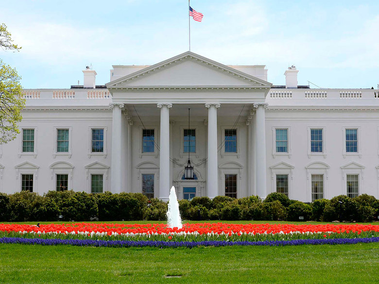 The facade of the White House