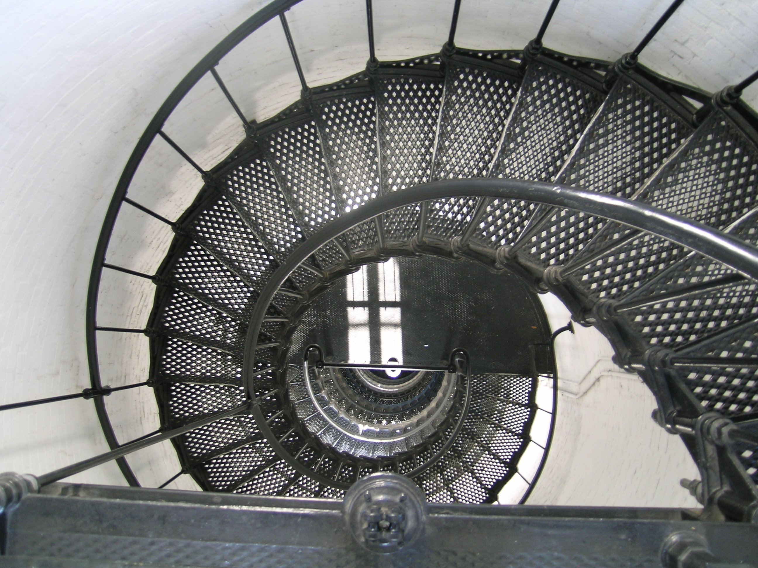 The stairs at the St. Augustine Lighthouse leading to the top of the tower
