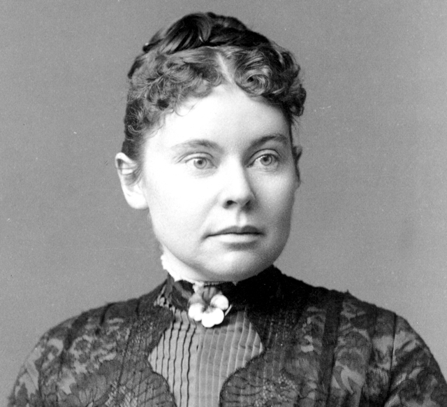 A photo showing Lizzie Borden