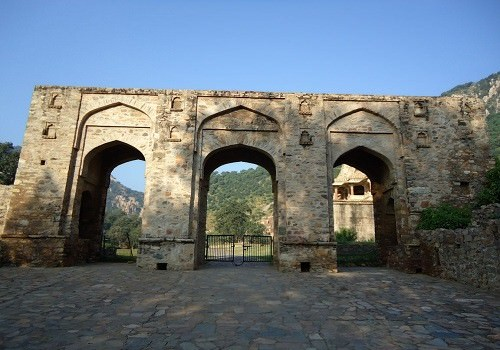 The front gates of the Bhangarh Fort