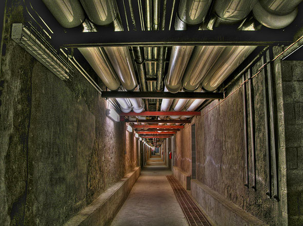 The underground tunnel of Casa Loma