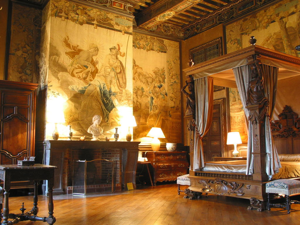 One of the suites of the Château de Brissac open to the public for overnight stays