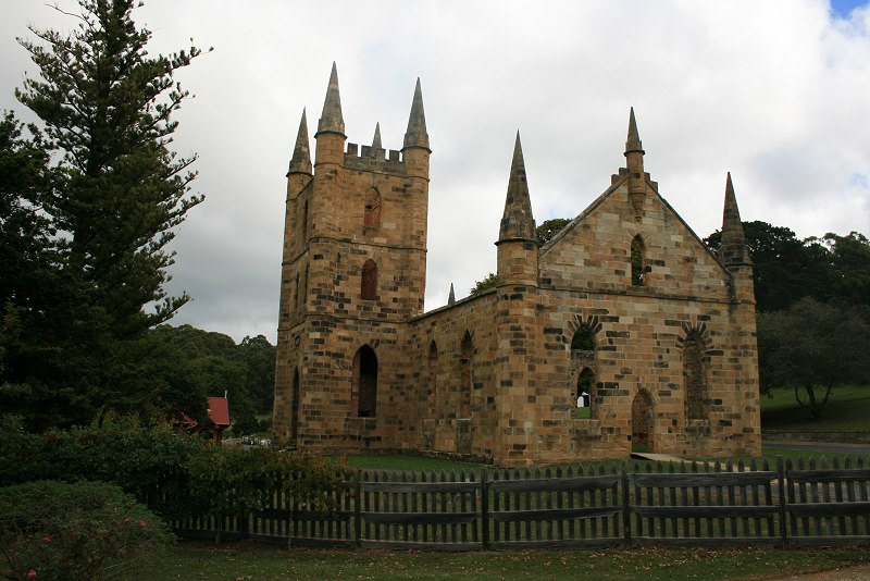 The church at Port Arthur