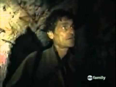 A screenshot from the alleged video of the man lost in the Catacombs of Paris
