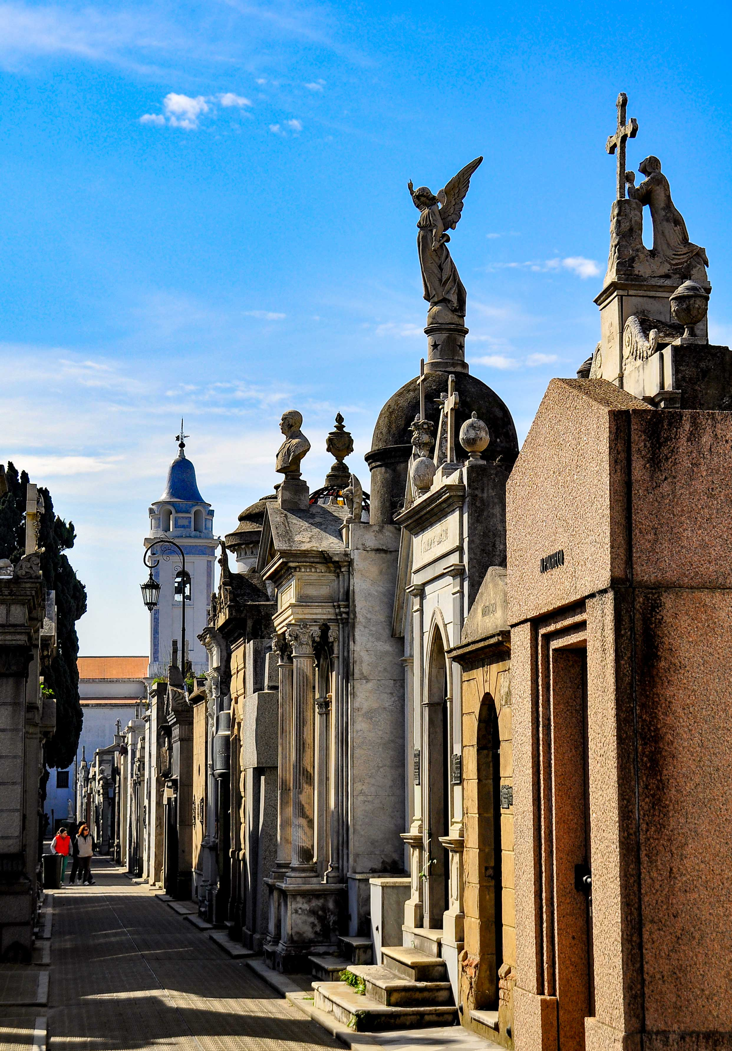 Some of the vaults at the La Recoleta Cemetery