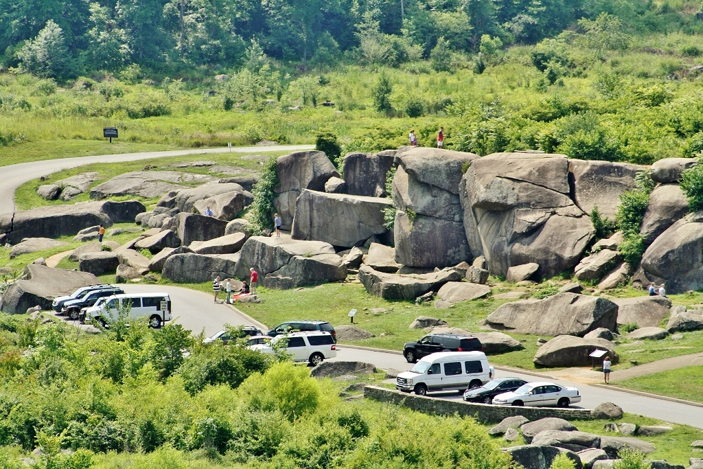 The Devil's Den at Gettysburg