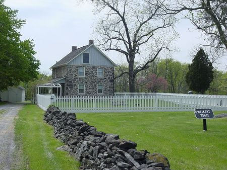 The George Weickert House at the Gettysburg Battlefield