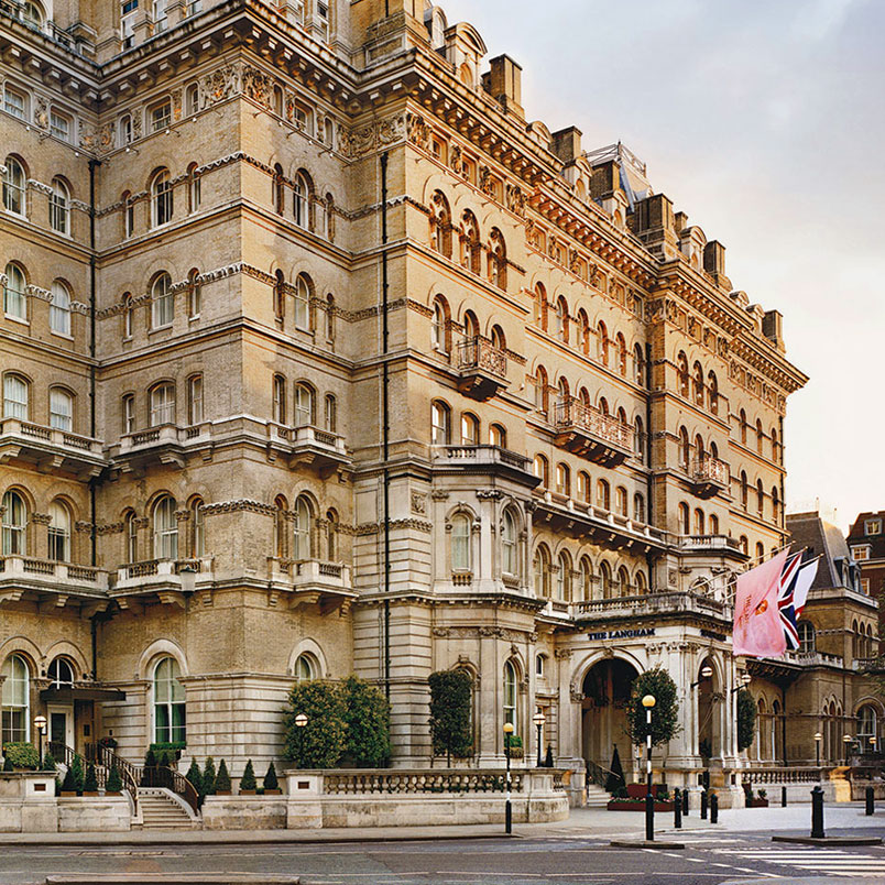 The Langham Hotel photographed from the outside