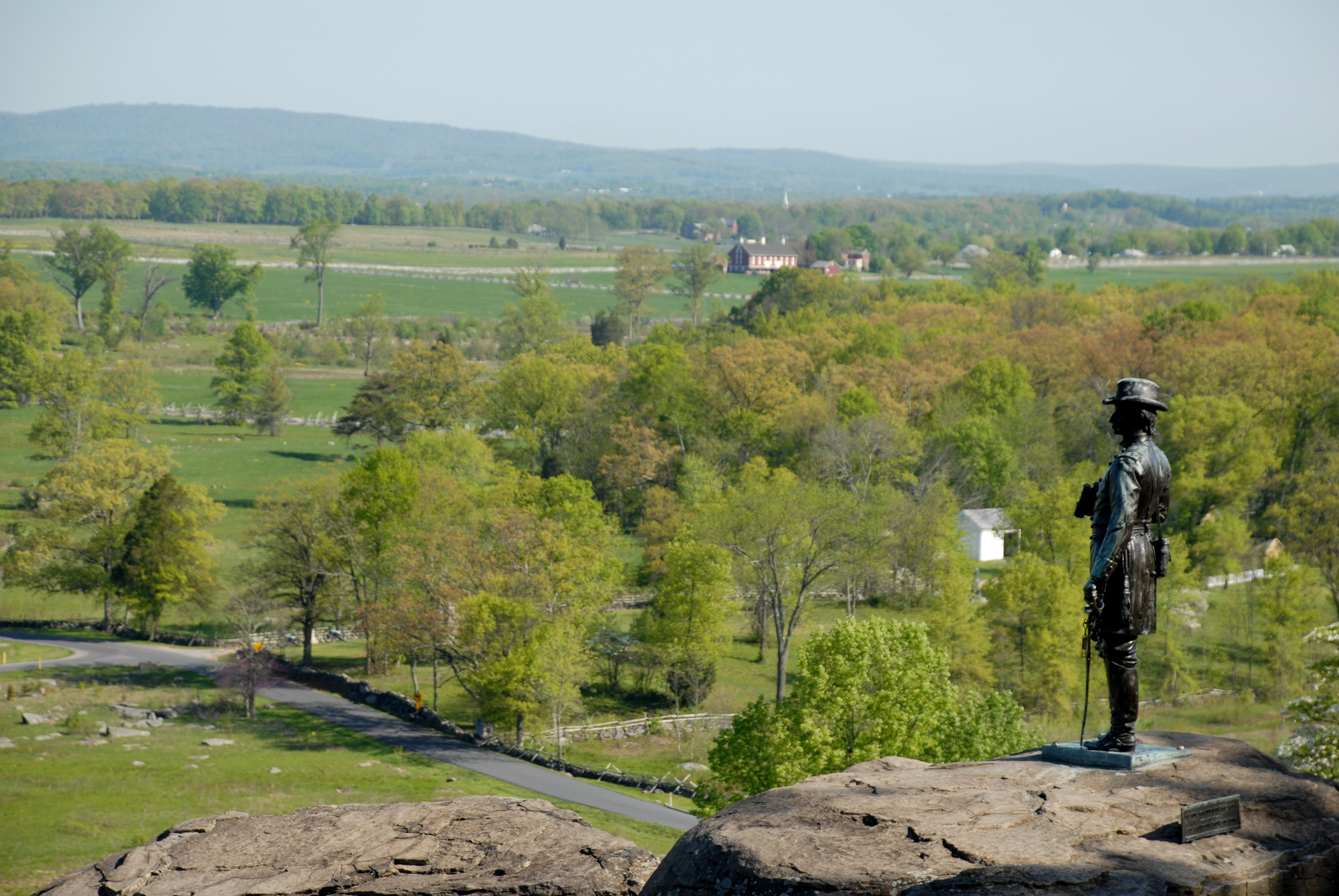The Little Round Top at the Gettysburg Battlefield