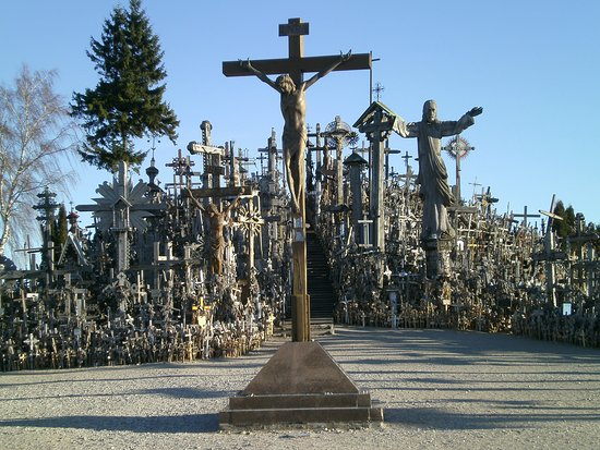Some of the crosses at the Hill of Crosses