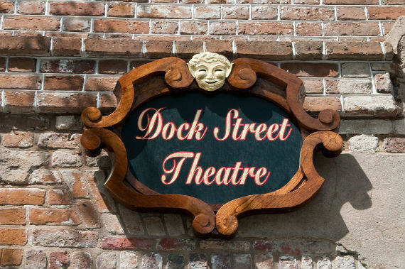 The Dock Street Theatre sign