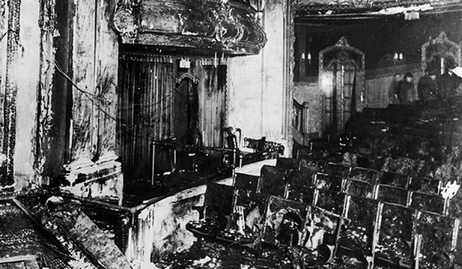 The Iroquois Theater after the fire