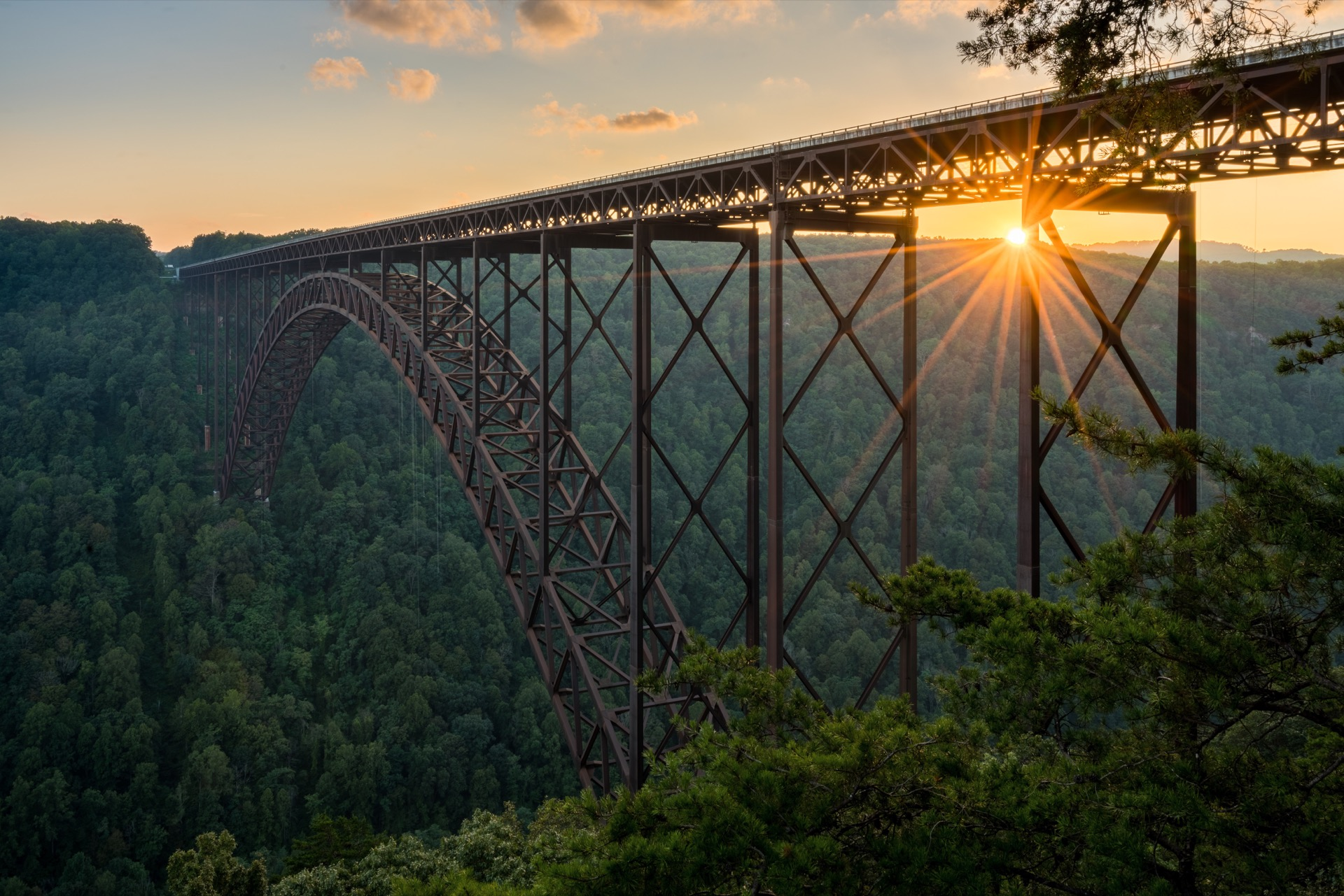 A scenic view of West Virginia