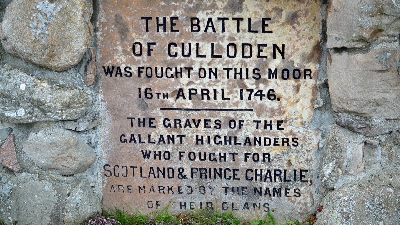 A sign that could be seen at the Culloden Moore