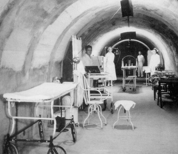 A photo of the Malinta Tunnel when it was a hospital