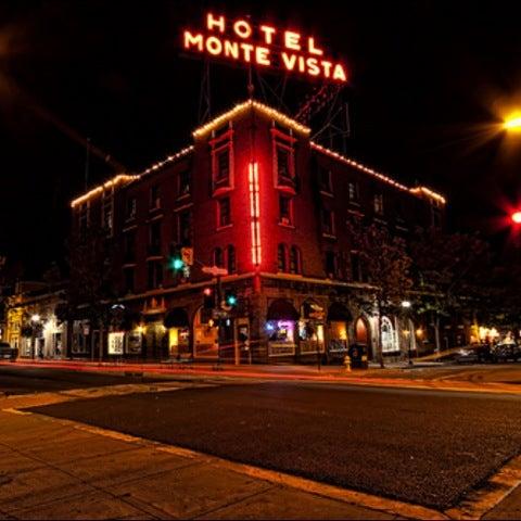 Hotel Monte Vista at night
