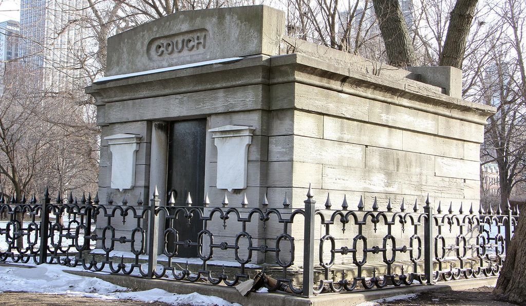 A mausoleum at the Lincoln Park which serves as proof that it was once a public cemetery