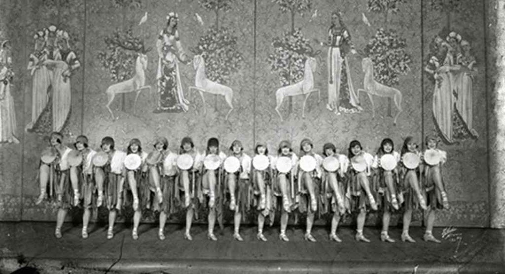 A photo of the women who are part of the Ziegfeld Follies