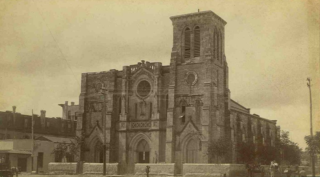A portrait of the San Fernando Cathedral when it was first built