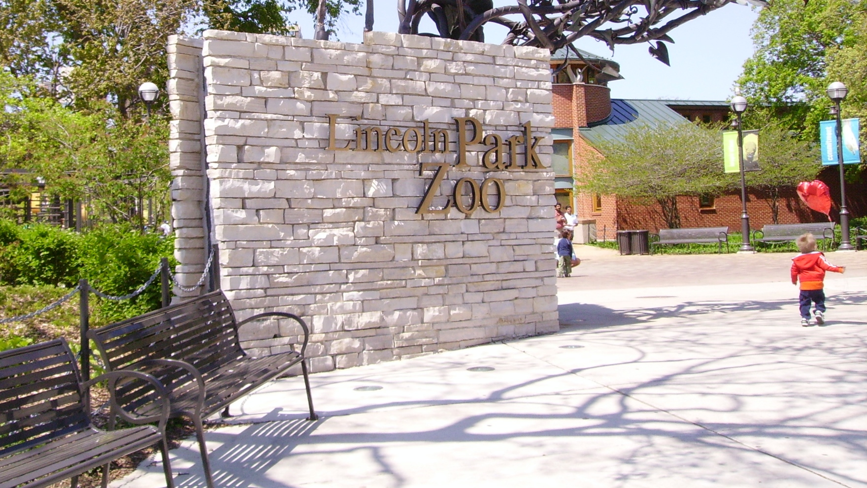 Lincoln Park Zoo's entrance