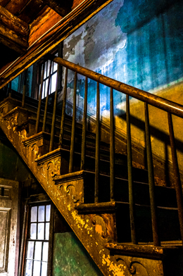 One of the stairs at the Moon River Brewing Company
