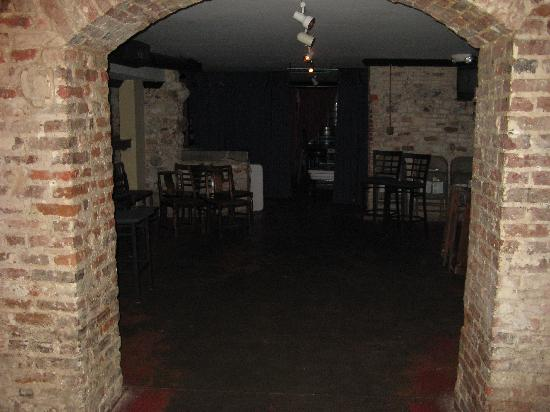 The basement of Moon River Brewing Company