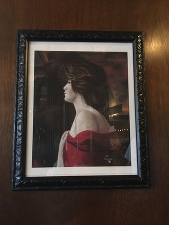 The portrait showing the alleged Lady in Red at the Mizpah Hotel