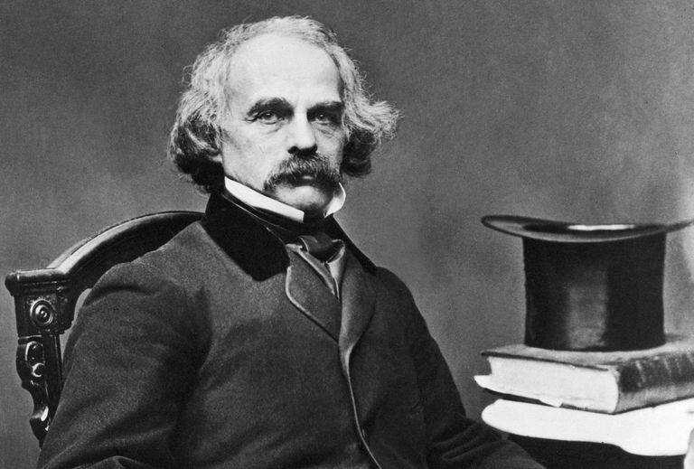 An undated photo of Nathaniel Hawthorne, the author of the popular books The House of the Seven Gables and Scarlet Letter