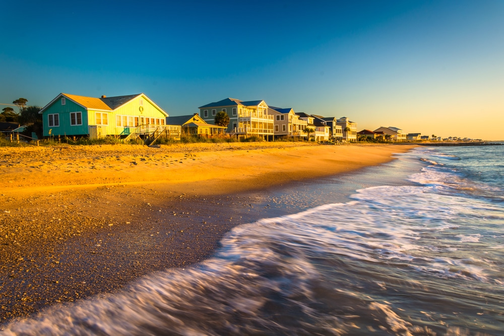 One of the beaches that people frequent in South Carolina