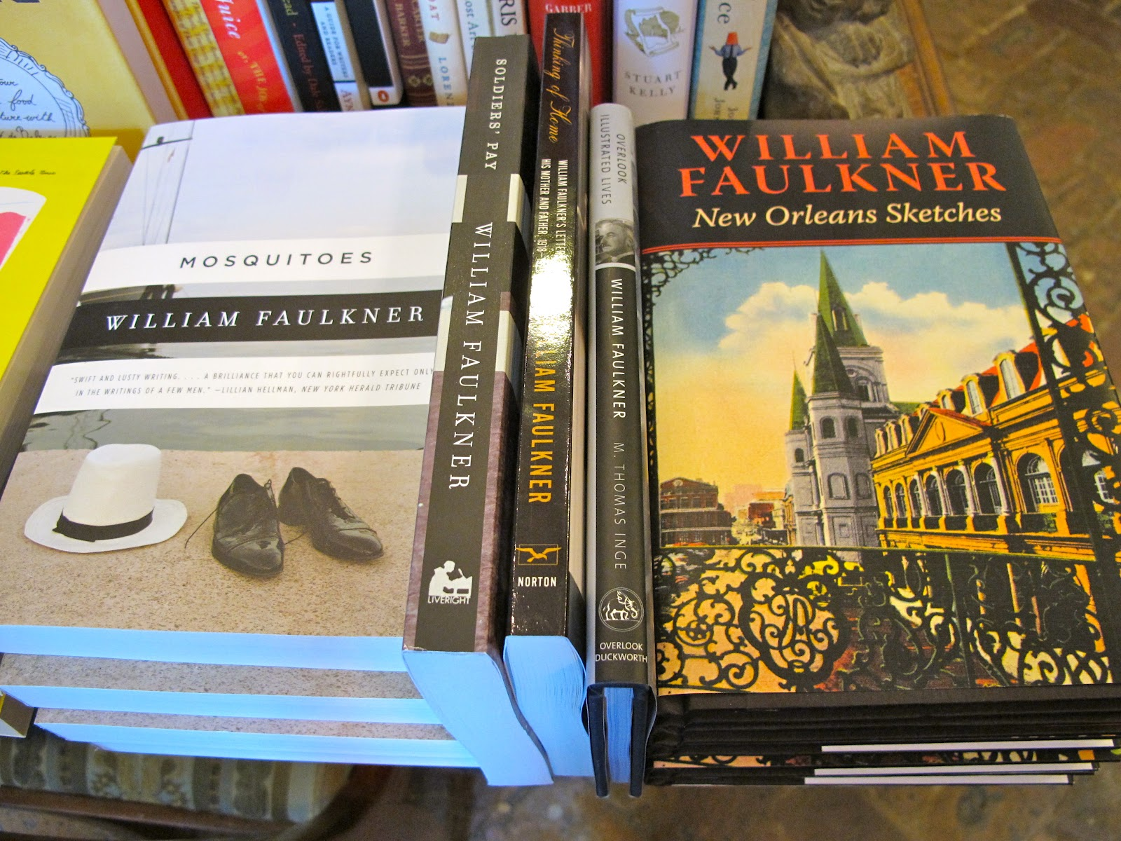 Some of the literary works of William Faulkner at the Faulkner House Books