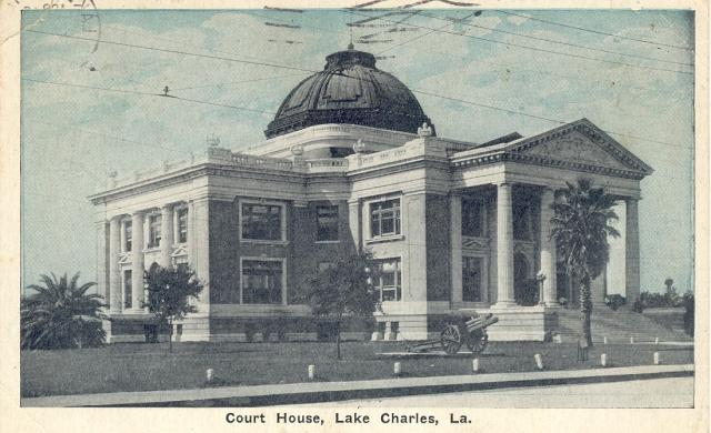 The Calcasieu Courthouse in an undated photo