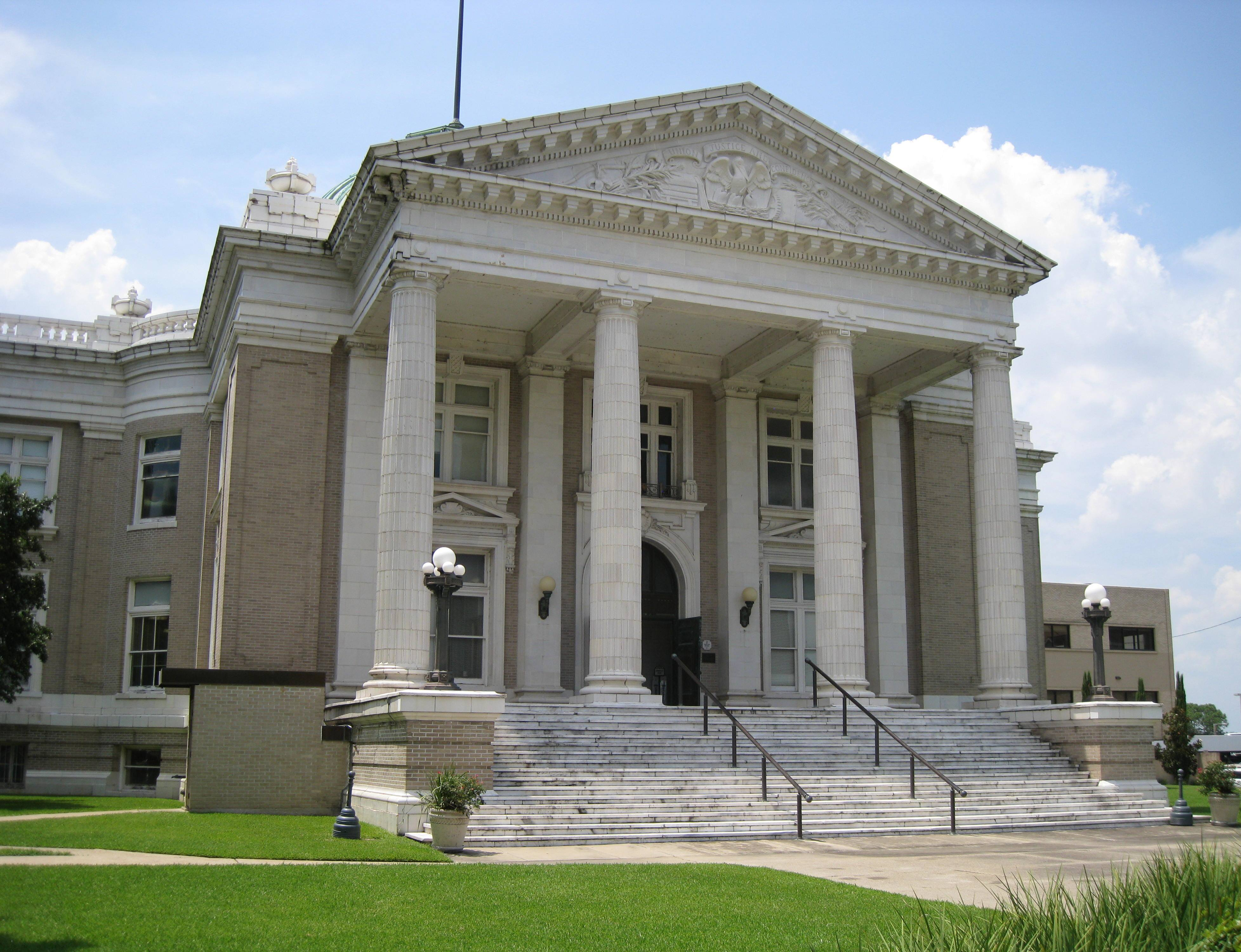 The Calcasieu Courthouse today