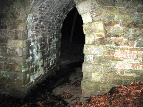 The arch at the Poinsett Bridge photographed at night
