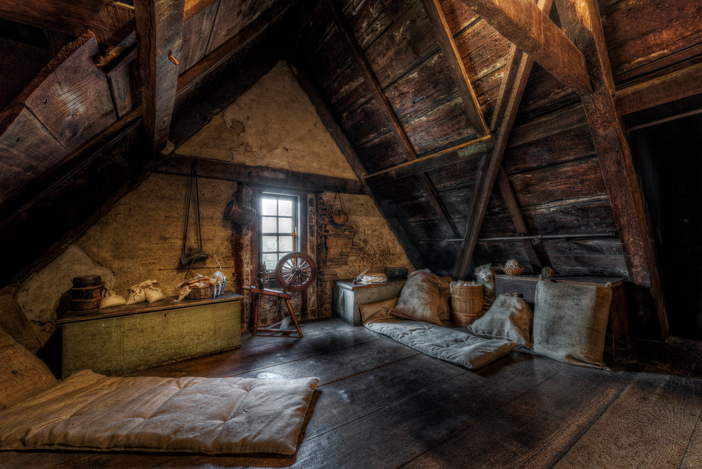 The attic at The House of the Seven Gables