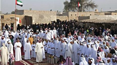 A photo showing the annual reunion at Al Jazirat Al Hamra