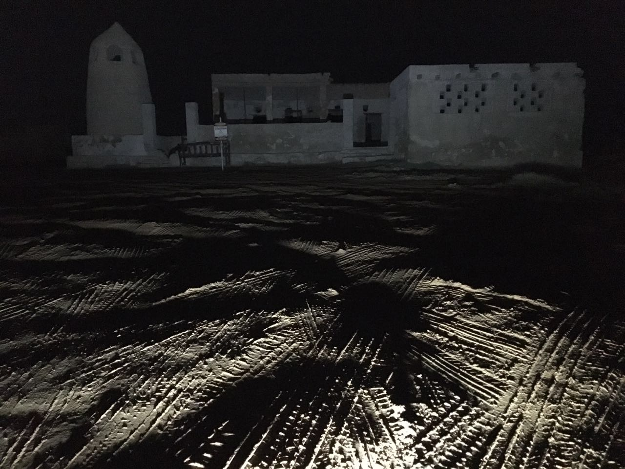 Al Jazirat Al Hamra at night