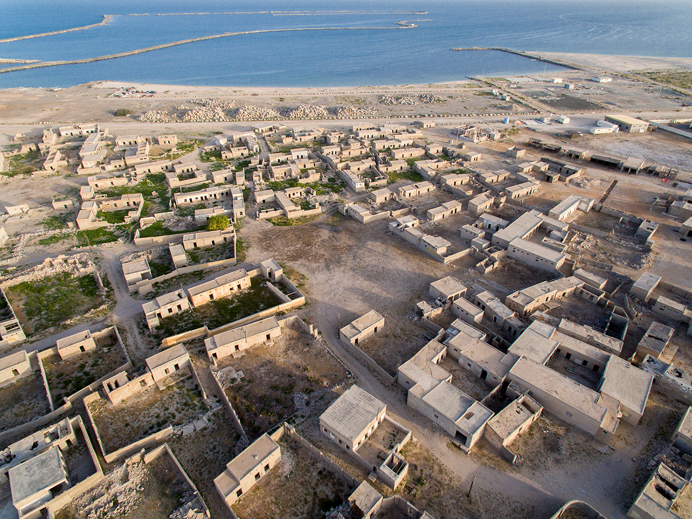 An aerial shot of Al Jazirat Al Hamra