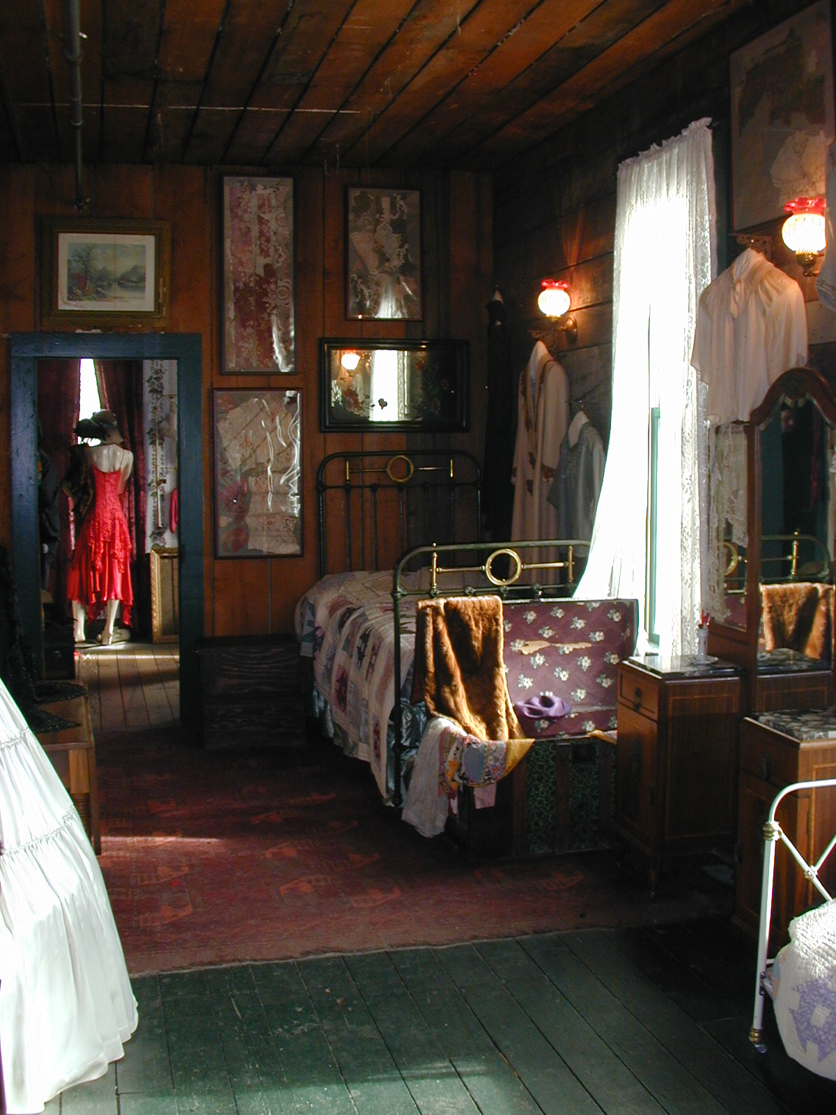 One of the rooms of the madams at the Red Onion Saloon