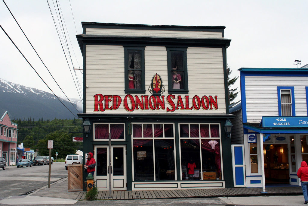The Red Onion Saloon as seen from the outside