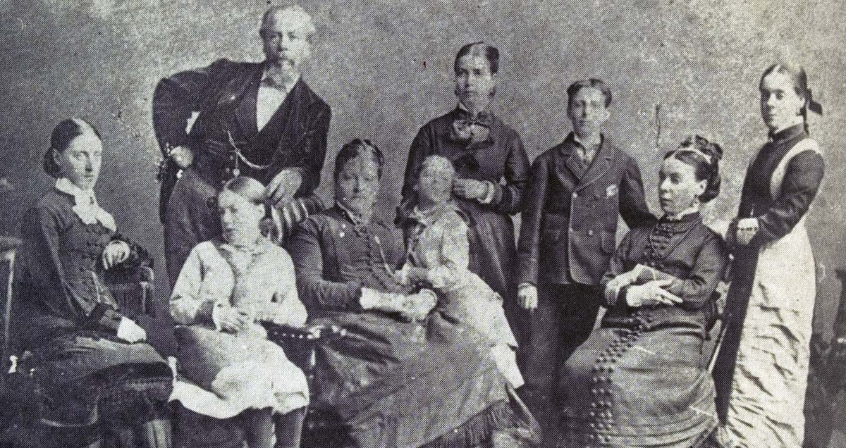 An undated photo of the Larnach Family
