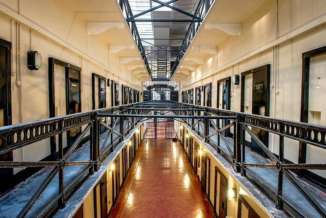 Some of the prison cells inside Crumlin Road Gaol